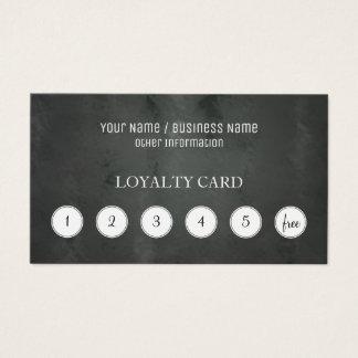 Chalkboard Customer Loyalty Punch Card