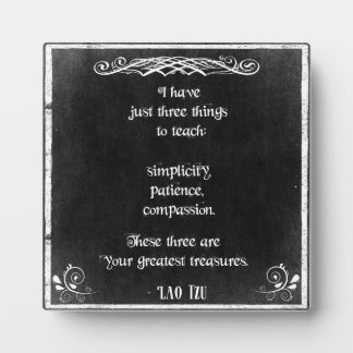 Chalkboard Design with Lao Tzu Inspirational Quote Plaque