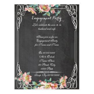 chalkboard, engagement party.ENGAGEMENT Postcard