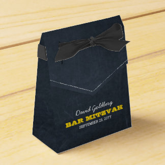 Chalkboard Gold Bar Mitzvah Favour Box