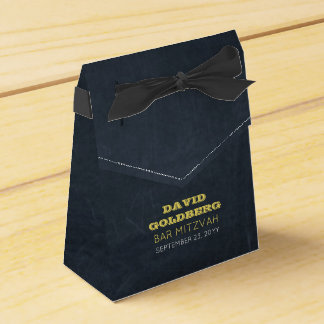 Chalkboard Golden Bar Mitzvah Favour Box