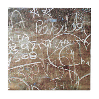 Chalkboard Graffiti 002 Tile