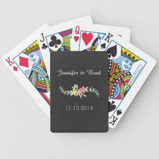Chalkboard Gray with Flowers Custom Card Deck