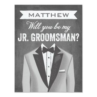Chalkboard Junior Groomsman | Groomsman 11 Cm X 14 Cm Invitation Card