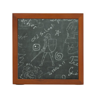 Chalkboard Knight Desk Organizer