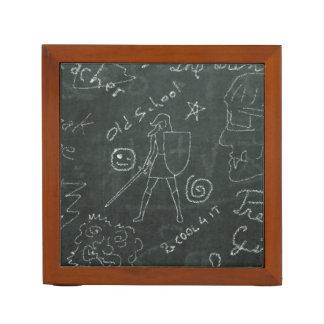 Chalkboard Knight Desk Organizer Pencil/Pen Holder