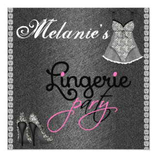CHALKBOARD Lingerie Party Invitation