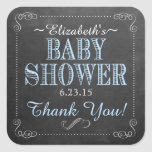 Chalkboard Look-Baby Shower Square Stickers