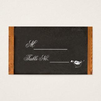 Chalkboard Love Bird Wedding Place Card