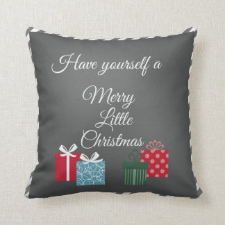 Chalkboard Merry Little Christmas Cushion