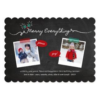 Chalkboard Mistletoes Christmas Holiday Photo Card 13 Cm X 18 Cm Invitation Card