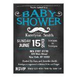 Chalkboard Moustache Baby Shower Invitation