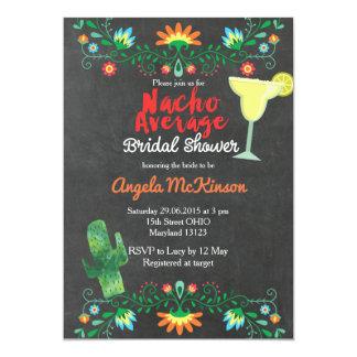 Chalkboard Nacho Average Bridal Shower Invitation