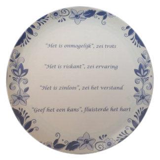 chalkboard dinner plate