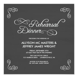 Chalkboard Rehearsal Dinner Invitations