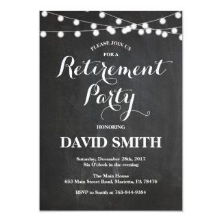 Chalkboard Retirement Party Invitation Card