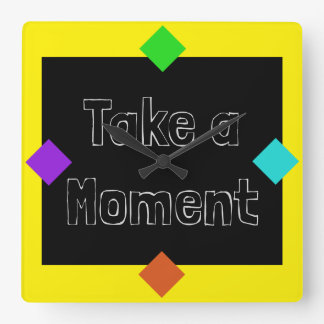 Chalkboard Style Bold Colorful Pop Art Clocks