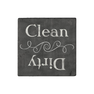 Chalkboard Style Clean/Dirty Dishwasher Kitchen Stone Magnet