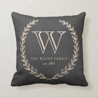Chalkboard Style Monogram Pillow