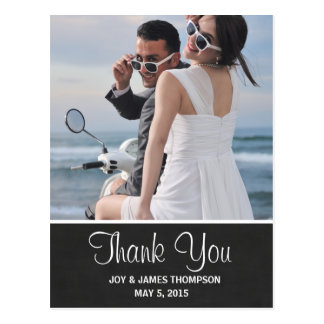 Chalkboard Thank You Wedding Postcards