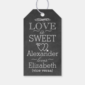 Chalkboard Typography Favour Tag | Love Is Sweet