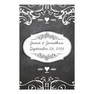 Chalkboard Typography Weddings Stationery