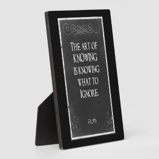 Chalkboard Typography with an Inspirational Quote Plaque
