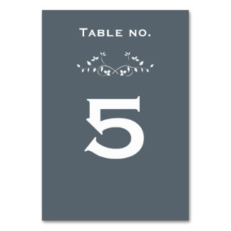 Chalkboard Vines Wedding Table Cards