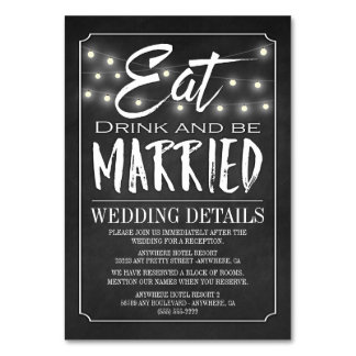 Chalkboard Wedding Reception Accommodation Cards