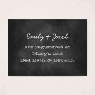 Chalkboard Wedding Shower Registry Insert Cards