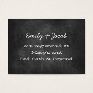 Chalkboard Wedding Shower Registry Insert Cards