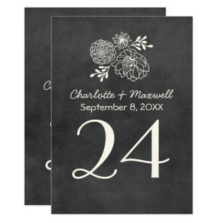Chalkboard Wedding Table Number Card