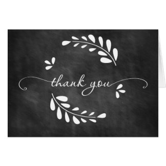 Chalkboard Wreath Thank You Card