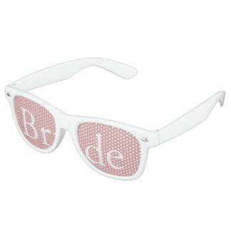Chalky Pastel Pink Wedding Party Set Retro Sunglasses