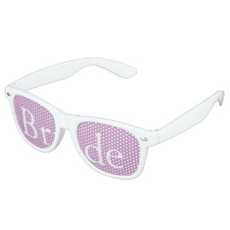 Chalky Pastel Violet Wedding Decoration Set Retro Sunglasses