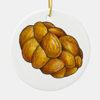 Challah Bread Loaf Happy Hanukkah Ornament