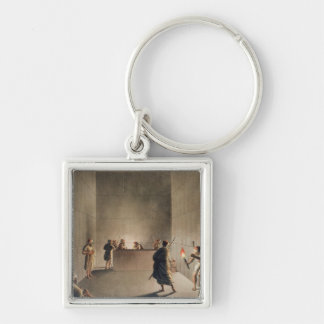 Chamber and Sarcophagus in the Great Pyramid of Gi Key Ring