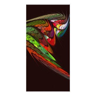 Chameleon Abstract Art Photo Card