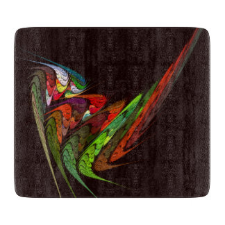 Chameleon Abstract Art Rectangle Cutting Board