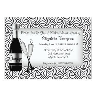 """Champagne Bridal Shower Invitation 5"""" X 7"""" Invitation Card"""