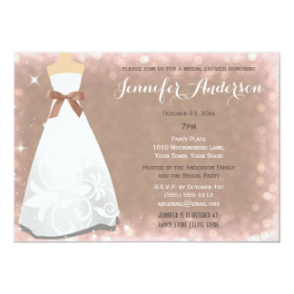 Champagne Glamour Hollywood Theme Bridal Shower 13 Cm X 18 Cm Invitation Card
