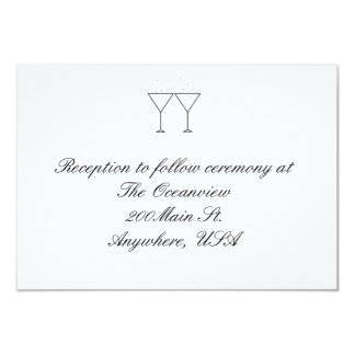 """""""Champagne Glasses"""" Reception Cards"""