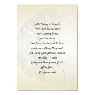Champagne Gold Sand Dollar Wishing Well Cards