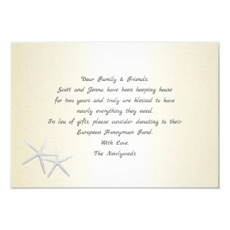Champagne Gold Starfish Wishing Well Cards