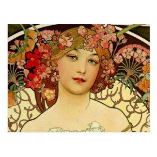 Champagne Woman 1897 - F. Champenois Imprimeur Postcard
