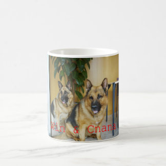 Chana & Win Tow Lovely German Shepherd Dogs Coffee Mug