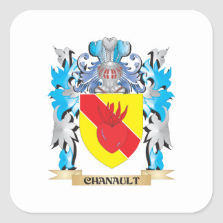 Chanault Coat of Arms - Family Crest Square Stickers