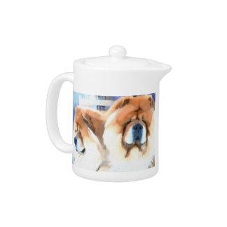 CHANCE & CHLOE heARTdog chow teapot