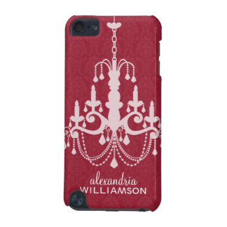 Chandelier Damask iPod Touch Case (red)