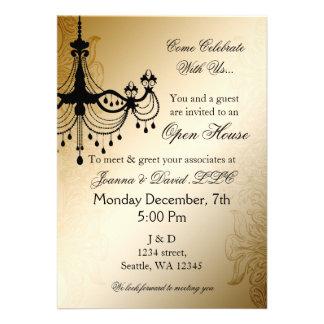 Chandelier Gold elegant Corporate party Invitation